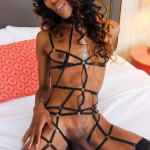 Black-Tgirls April is a sexy slim tgirl