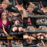 SexuallyBroken Matt Williams, Jack Hammer Big breasted Alyssa Lynn takes on two cocks while bound in a leather straightjacket