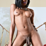 ShemaleStrokers Leah Hardzz Hot Ebony Trans Girl Is Spewin The Goo All For You