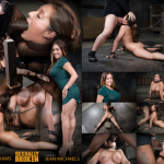 SexuallyBroken – Lush Jean Michaels gets the Sexuallybroken treatment, bound and deepthroating on two big cocks!