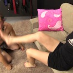 ClairesSlaves – Mistress Claire slaps Beau very hard with her feet