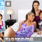Mature.nl – Gigi S. (44), Dasha (60), Emra (25) – Lesbian-Alex406 – 3 Old And Young Lesbians Playing With EachOther