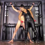 MistressEzadaSinn – Red leather half gloves double ruin