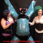 Femdom – Aliceinbondageland – Layered Bondage Mummification – Rubber Kitty Handjob Threesome