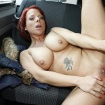 PornDoePremium – BumsBus – Jolyne – This tattooed German redhead is down for a blowjob and a titjob in the car – 25.07.2016