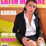 Mature.nl – Karina G. (43) – Latin Hairy Older Lady Fingering Herself – Mat-Gar019