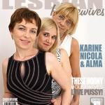 Mature.nl – Nicola S. (40), Alma (40), Karine C. (49) – Mat-Alex257 – 3 Mature Lesbians Sharing Their Pussies