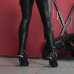 CRUEL MISTRESSES – Lady Ann – Whipping in catsuit