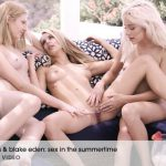 X-Art presents Blake Eden, Naomi Woods, Lena Anderson in Sex In The Summertime Video – 12.09.2016