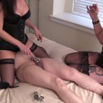 Clubstiletto – Miss Jasmine, Goddess Rianna – Edging a Useless Dick