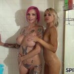 Spizoo presents Alix Lynx And Anna Bell Peaks in Shower Virtual – 22.09.2016