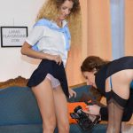 JimSlip – Larasplayground presents Lara Latex, Monique Woods in Curly Haired Preppy Cutie – 16.09.2016