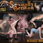 SexuallyBroken presents Hot Domme Mona Wales, is bound down and brutally dicked down, rough face fucking and Os – 14.10.2016