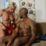 Clips4sale presents Blonde Christina Shine with Black Guy