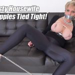 Lady-Sonia presents Lady Sonia in Rope Bondage And Tied Nipples Hard