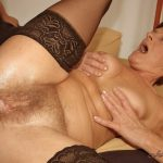 LustyGrandmas presents Hairy Mature Tammy in Stockings Sucking and Fucking