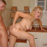 LustyGrandmas presents Mature Fresia With Sons Friend
