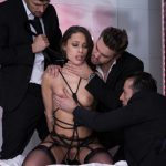 DorcelClub presents Lyxure – Nikita Bellucci gangbanged by 3 men – 06.01.2017
