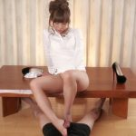 LegsJapan presents Natsume Hotsuki in White Top Footjob