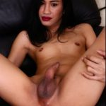 Ladyboy.xxx presents Innocent Au Strips And Masturbates – 24.01.2017