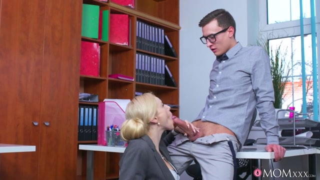 Watch Online Porn – MomXXX presents Angel Wicky in Busty Milf boss fucks big geek cock – 22.02.2017 (MP4, SD, 854×480)