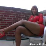 Shemalestrokers presents Silky in Smokin Trans Girl Has A Big Ebony Toy For You To Enjoy! – 06.02.2017
