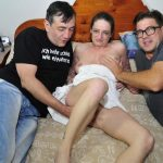 Porndoepremium – ReifeSwinger presents Adrienne Kiss in Slutty German mature chick gets two cumloads on tits in dirty MMF threesome – 07.02.2017