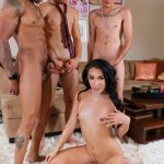 Shemale.xxx presents Chanel Santini in Chanels Breathtaking Foursome Action! – 29.03.2017