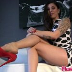 HumiliationPOV presents Kayla Jane Danger in Red Stiletto Heel Dangle Trance