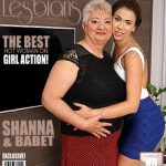 Mature.nl presents Babet (57), Shanna (24) in chubby mature lesbian has sex with a hot young babe