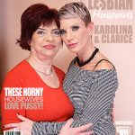 Mature.nl presents Clarice (42), Karolina K. (58) in 2 mature lesbians sharing their pussies – 20.04.2017