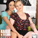 Mature.nl presents Kailee (25), Silana (41) in Chubby mature lady has sex with a hot young babe – 31.03.2017