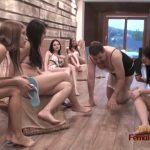 EroticFemaleDomination presents 6 Mistresses In Bikinis Having Femdom Party