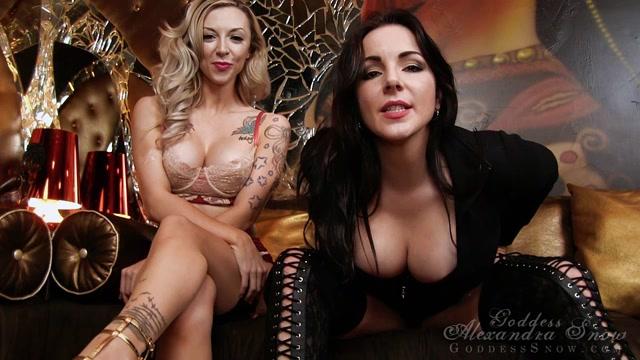 Watch Online Porn – Goddess Alexandra Snow, Miss London Lix in CBT Double Duty (MP4, HD, 1280×720)