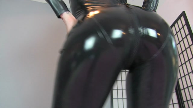 Watch Online Porn – Miss London Lix in Latex Catsuit Ass Worship in Chastity (MP4, HD, 1280×720)