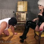 ObeyNikita presents Mistress Nikita in Shiny thigh high boot bitch