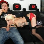 PornDoePremium – BumsBus presents Sophie Logan in Tattooed German MILF Sophie Logan gets cum on ass in hot public bus fuck – 04.05.2017