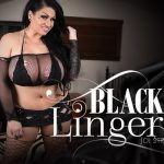 Virtual Reality Porn presents Samantha Mack in Black Lingerie JOI Striptease