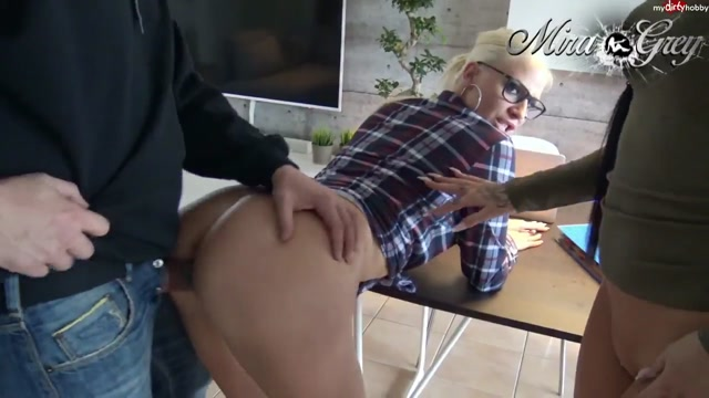 Watch Online Porn – MyDirtyHobby presents Lara-CumKitten & Mira-Grey in Fuck tuition extremely! Nerd Glasses Insemination – 21.05.2017 (MP4, HD, 1280×720)