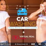 Virtualrealporn presents Stasy Riviera & Juan Lucho in Washing the car was never so exciting – 13.07.2017