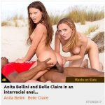 Private – BlacksOnSluts presents Anita Bellini and Belle Claire in an interracial anal threesome on the beach – 29.07.2017
