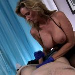 Jodi West in Mistress Jodi Milks Restrained Young Man With Latex Gloves