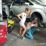 TeenMegaWorld – Old-n-Young presents Naomi Bennet in Making sex in auto service – 15.07.2017
