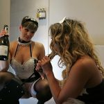 ManyVids presents HannahBrooks in DIRTY MAIDS A FUCK MACHINE AND CHAMPAGNE