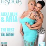 Mature.nl presents Alexa Blun (48), Aria (22) in big breasted lesbian lady has sex with a hot young babe – 11.08.2017