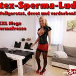 MyDirtyHobby presents Daynia in Das vollgerotzte, verfickte Latex-Sperma-Luder – The horny, fucked latex sperm bitch!