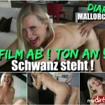 MyDirtyHobby presents Dirty-Tina in Film ab – Ton an – Schwanz steht – Movie off! Sound on! Tail is standing!