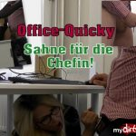 MyDirtyHobby presents TatjanaYoung in Office-Quicky – Sahne fur die Chefin – Office Quicky! Cream for the boss!