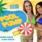 Wankzvr presents Alice Coxxx, Davina Davis in Pool Pump – 15.08.2017