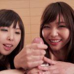HandjobJapan presents Natsuki Yokoyama and Shino Aoi double handjob